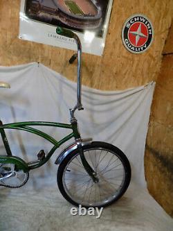 1972 Schwinn Stingray Boys Banana Seat Muscle Bike Vintage Fastback S7 Green