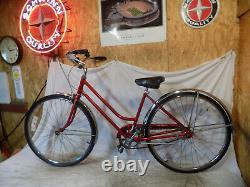1978 Schwinn Breeze Ladies 3-speed Vintage Road Cruiser Bike Collegiate Red