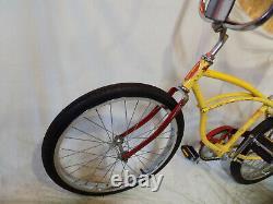 1979 Schwinn Stingray II Boys Banana Seat Muscle Bicycle Yellow+red S7 Vintage