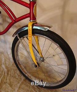 1980 Schwinn Stingray II Boys Banana Seat Muscle Bike Red+yellow Vintage S2 70s
