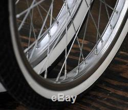 """Schwinn 20/"""" Bicycle Stingray Rear Slick White and Front White Wall Tires Set NEW"""