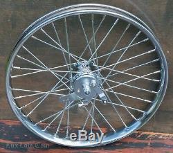 20 Chopper Cruiser Bicycle Front WHEEL Drum Brake Hub Rim Vintage Schwinn Bike