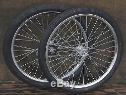 "20/"" Muscle Bike Black TIRES Brick /& Slick Vintage Schwinn Stingray Bicycle Huffy"