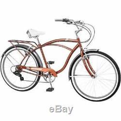 26 Men's Cruiser Bike 7-Speed Classic Retro Vintage Bicycle Schwinn Clairmont