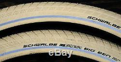 26x2.15 Cream White Schwalbe BB Cruiser Bicycle Tires Vintage Schwinn Tank Bike