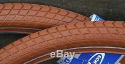 26x2.15 Red Brown Schwalbe BB Cruiser Bicycle Tires Vintage Schwinn Prewar Bike