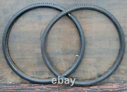 28 Antique Bike Gillette Single Tube TIRES Vintage TOC Bicycle Wood Rims Wheels