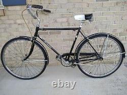 60's SCHWINN RACER MENS 3-SPEED BICYCLE VINTAGE 26 Black