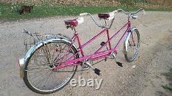 65 Original Chicago Schwinn Twinn Tandem Vintage Full Size Adult Cruiser Bicycle