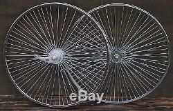 72Spoke 26 Cruiser Bike WHEELS Sram 2Speed Hub Vintage Schwinn Lowrider Bicycle