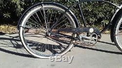ALL ORIGINAL BLACK VINTAGE SCHWINN SPITFIRE Bicycle Circa50's GREAT CONDITION