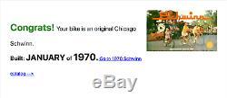Absolutely MINT Vintage Schwinn Krate 1970 Cotton Picker 100% Original