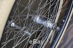 Antique Bicycle 28 WHEELS Vintage Schwinn New Departure Hub Wood Rim Bike Tires