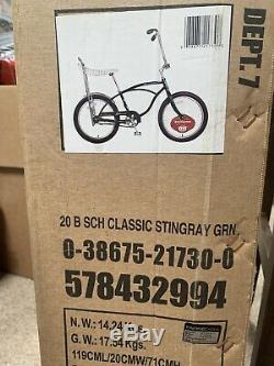 CLASSIC Schwinn Green StingRay Vintage Retro BIKE Banana Seat 20 Inch NWT