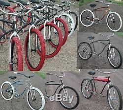 Chrome 26 Vintage Schwinn Cruiser Bike Tube FORK 1 Headset RatRod Tank Bicycle