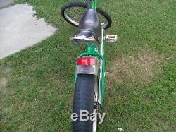 Green Schwinn Orange County Chopper 20 Stingray Bycycle In Very Good Condition