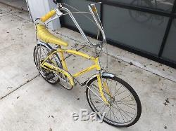 Mid 70s Schwinn Stingray FastBack 5 Speed Yellow Vintage Banana Gold Patina Bmx