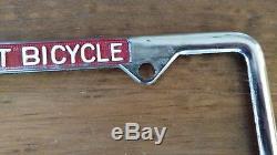 NOS Vintage Schwinn Stingray Krate Bicycle Car License Plate Advertising Frame
