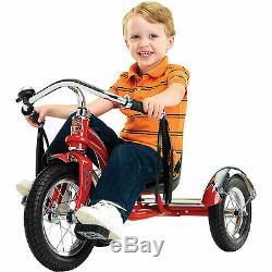New 12 Red Retro Tricycle Schwinn Roadster Kids Trike Vintage Bike Chrome