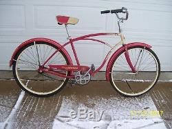 Nice Vintage 1957 Schwinn Spitfire Mens Bike 26