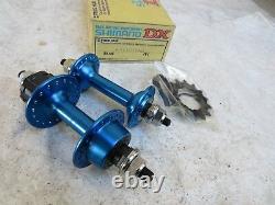 Nos Shimano MX DX Blue Hubs 36 Hole Bmx Race Racing Schwinn Bicycle Vintage