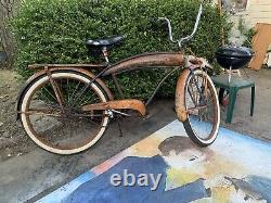 Old Bicycle Dayton tank prewar vintage 26 skip tooth
