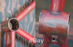 Prewar Motorbike FRAME FORK Vintage Dayton Excelsior Schwinn Wood Wheel Bicycle