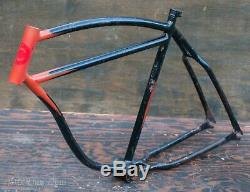 Prewar Schwinn Straight Bar Bicycle FRAME Vintage Klunker Cruiser Bike Autocycle
