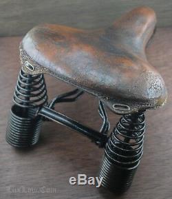 Prewar Troxel SADDLE Vintage Long Spring TOC MotorBike Seat Schwinn Iver Johnson