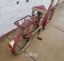 Prewar schwinn Henderson VINTAGE BEACH CRUISER BICYCLE Bike