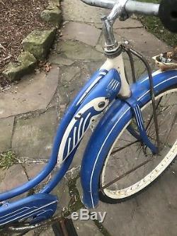 RARE 1952 VINTAGE SCHWINN 26 HORNET LADIES TANK BICYCLE 1st MADE # A99965 Mo D9