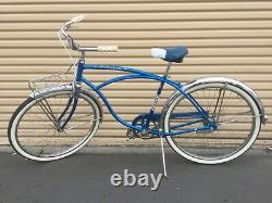 RARE VINTAGE 1964 SCHWINN Chicago Made USA, Radiant Blue Tiger Near Mint! 100%