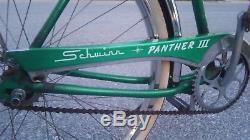 RARE Vintage All American 1960 Schwinn Panther 3 III green Bicycle all original