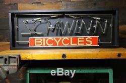 Rare 80s Schwinn Bicycle Dealer Neon Lighted Sign 44 Stingray Krate Phantom Vtg
