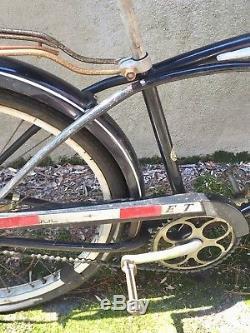 Rare Vintage 1950s Schwinn Hornet Tank Boys Bike Bicycle Black Orig Unrestored