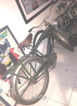 Rare Vintage 1951 Schwinn Green Phantom Tank Bicycle All Original Complete