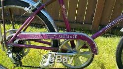 Rare Vintage 1967 Schwinn Sting-Ray Fastback Ram's Horn Purple 20 Muscle USA