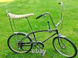 Rare Vintage 1968 Schwinn Sting-Ray Fastback Bicycle Muscle Shifter Bike Black