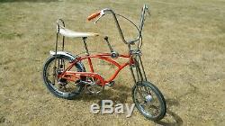 Rare Vintage 1968 Schwinn Sting-Ray Orange Krate Muscle Bike 5 Speed Stick USA