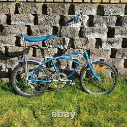 Rare Vintage August 1977 Schwinn Sting-Ray 5 Speed Sky Blue 20 Boys J38-9 USA