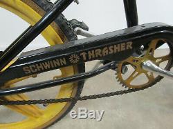 Retro Schwinn Scrambler thrasher BMX Bike Bicycle 80's gold mags wheels vintage