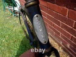 Rt35,1, Antique, Vintage, Schwinn, Jaguar, 26frame And Fork, Parts, Old, Tank Bicycle
