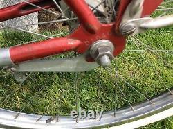 SCHWINN 1953 NICE ORIGINAL PAINT RED PHANTOM VINTAGE BICYCLE ELGIN COLUMBIA 50s