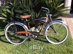 SCHWINN 1956 BLACK PHANTOM NICE ORIGINAL PAINT SURVIVOR VINTAGE 26 BICYCLE 50s