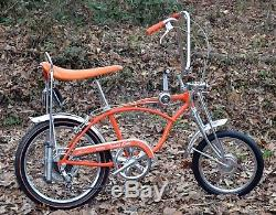 SCHWINN 1969 ORANGE KRATE 5 speed Sting-ray Bicycle-Vintage BikeOriginal 69