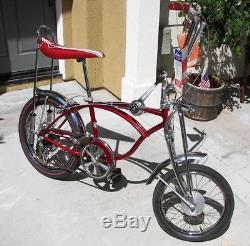 SCHWINN 1970 APPLE KRATE 5 Speed Vintage Stingray Original Bicycle