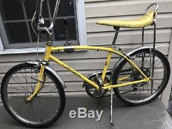 SCHWINN 1970 Fastback Sting-ray 5 speed Bicycle Vintage Original Stingray Yellow