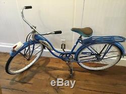 Schwinn 1952 vintage bicycle ladies panther blue