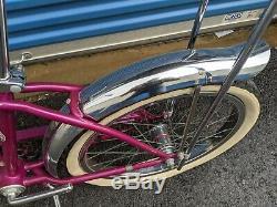Schwinn 1966 Stingray DeLuxe Bicycle Original VIOLET Bike Vintage 66 Sting-ray