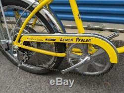 Schwinn 1972 LEMON PEELER KRATE Stingray Bicycle RESTORED Vintage Bike withDisc